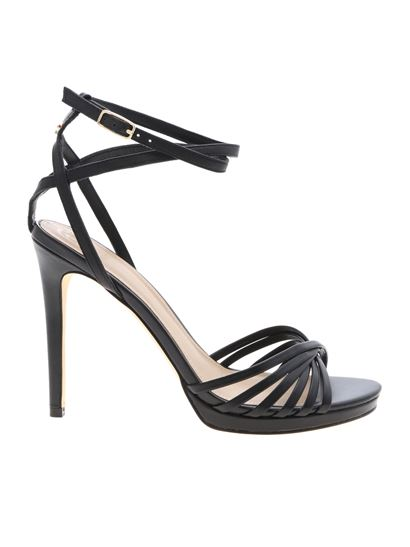 Summer Leather Guess Spring 2019 Black Sandals Tonya In lFK3J1uTc