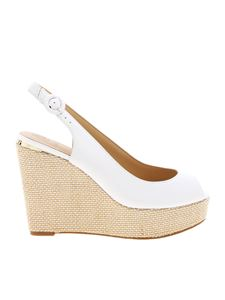 Guess - Hardy wedges in white leather