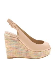 Guess - Wedges in pink leather
