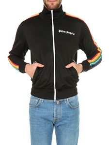 Palm Angels - Rainbow Track sweatshirt in black