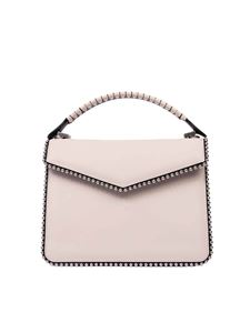 Les Petits Joueurs - Pixie Metal Piping Double Braid bag in white