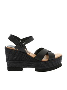 Paloma Barceló - Haru wedge sandals in black