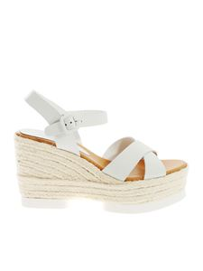 Paloma Barceló - Haru sandals in white nappa leather