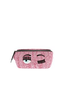 Chiara Ferragni - Pink Flirting waist bag with glitter