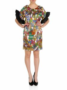 Shirtaporter - Short dress with multicolor ruffles