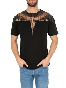 Marcelo Burlon - Wings T-shirt in black and orange