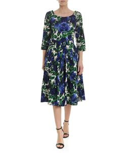 Samantha Sung - Florance dress in beige with blue roses print