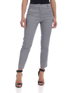 Max Mara Weekend - Tenzone trousers in blue and white