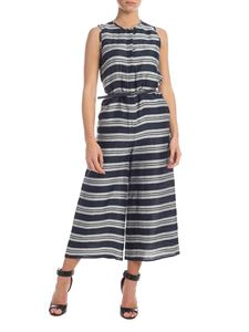 Max Mara Studio - Merano jumpsuit in blue with gray stripes