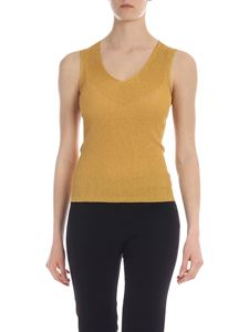 Max Mara Studio - Gerico top in ocher yellow