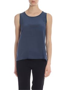 Max Mara Weekend - Livorno top with in blue beads on the neck