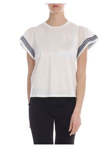 Max Mara Weekend - Embroidered Cerchio T-shirt in white