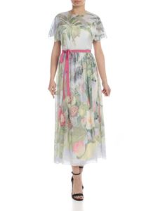 Red Valentino - Dress in light blue silk with floral print