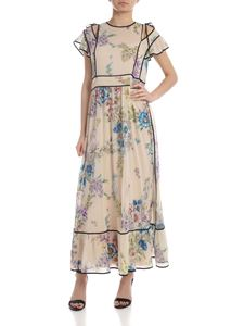 Red Valentino - Dress in cream colored silk with floral print