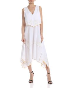 See by Chloé - Sleeveless dress in white with floral embroidery