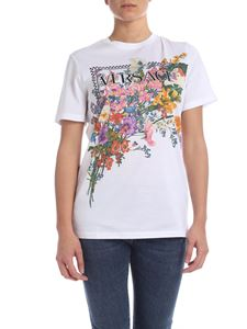 Versace - T-shirt 90'S bianca con stampa floreale