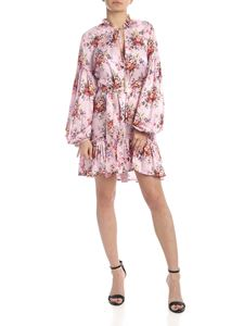 Wandering - Chemisier in pink satin with floral print