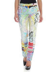 Versace - Technicolor Baroque printed jeans in multicolor