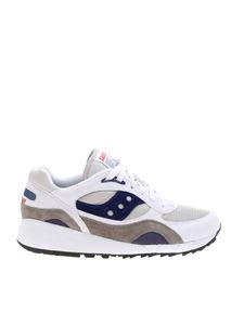 Saucony - Shadow 6000 sneakers in white and grey