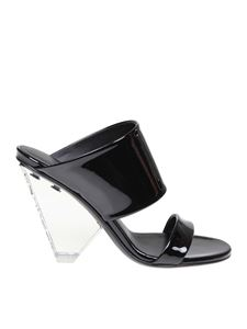Balmain - Lory sandals in black shiny leather