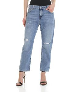 Department 5 - Tama jeans with vintage effect in light blue