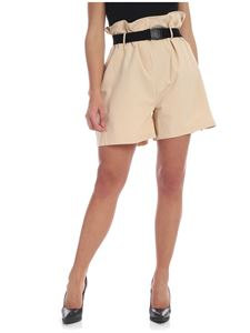 Weili Zheng - Beige shorts with belt