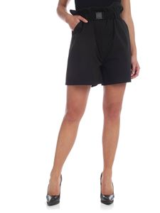 Weili Zheng - Black shorts with belt