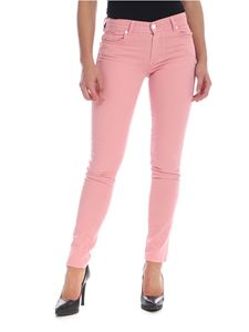Versace Jeans - Pink jeans with maxi logo