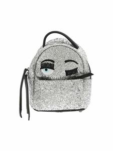 Chiara Ferragni - Flirting mini-backpack in silver glitter