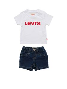 Levi's - T-shirt and shorts in white and blue