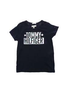 Tommy Hilfiger - T-shirt in blue with logo print
