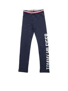 Tommy Hilfiger - Leggings in blue with logo print