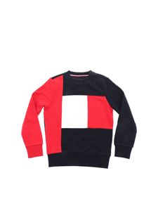 Tommy Hilfiger - Crewneck sweatshirt in blue and red