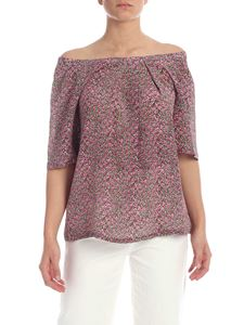 Max Mara Weekend - Fiore blouse in pink and green