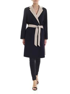 Max Mara Weekend - Reversible Didy coat in blue and beige