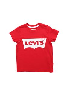 Levi's - T-shirt in red with Levi's print