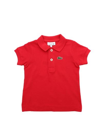 Lacoste - Polo in red with Lacoste patch