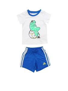 Adidas - Animal rompersuit in white and blue
