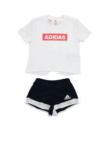 Adidas - Tee rompersuit in white and blue