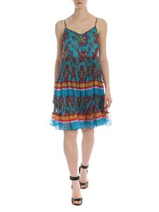 Twin-Set - Dress in teal green with multicolor print