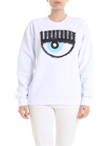 Chiara Ferragni - Embroidered sweatshirt in white