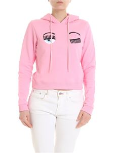 Chiara Ferragni - Flirting crop sweatshirt in pink