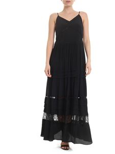 Twin-Set - Long dress in black with openwork details