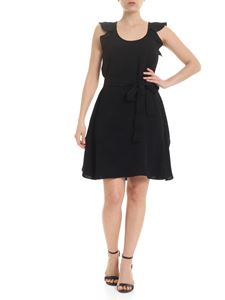 Twin-Set - Dress in black with embossed print