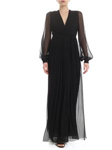 Dondup - Long dress in black with cut-out detail
