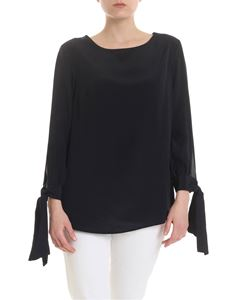 Dondup - Blouse in black with bows