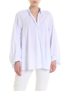 Dondup - Shirt in white with blue striped pattern
