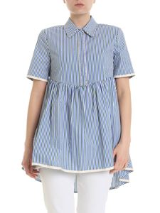 Twin-Set - Blouse in white with contrasting striped pattern