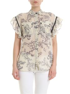 Twin-Set - Shirt in beige with floral print