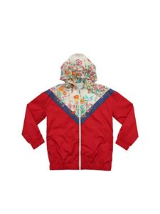 Gucci - Jacket in red with floral print